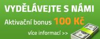 Provize - vydělávejte s námi a získejte bonus 100 Kč